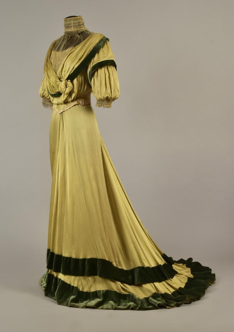 SILK and VELVET DRESS with ROYAL PROVENANCE, c. 1906