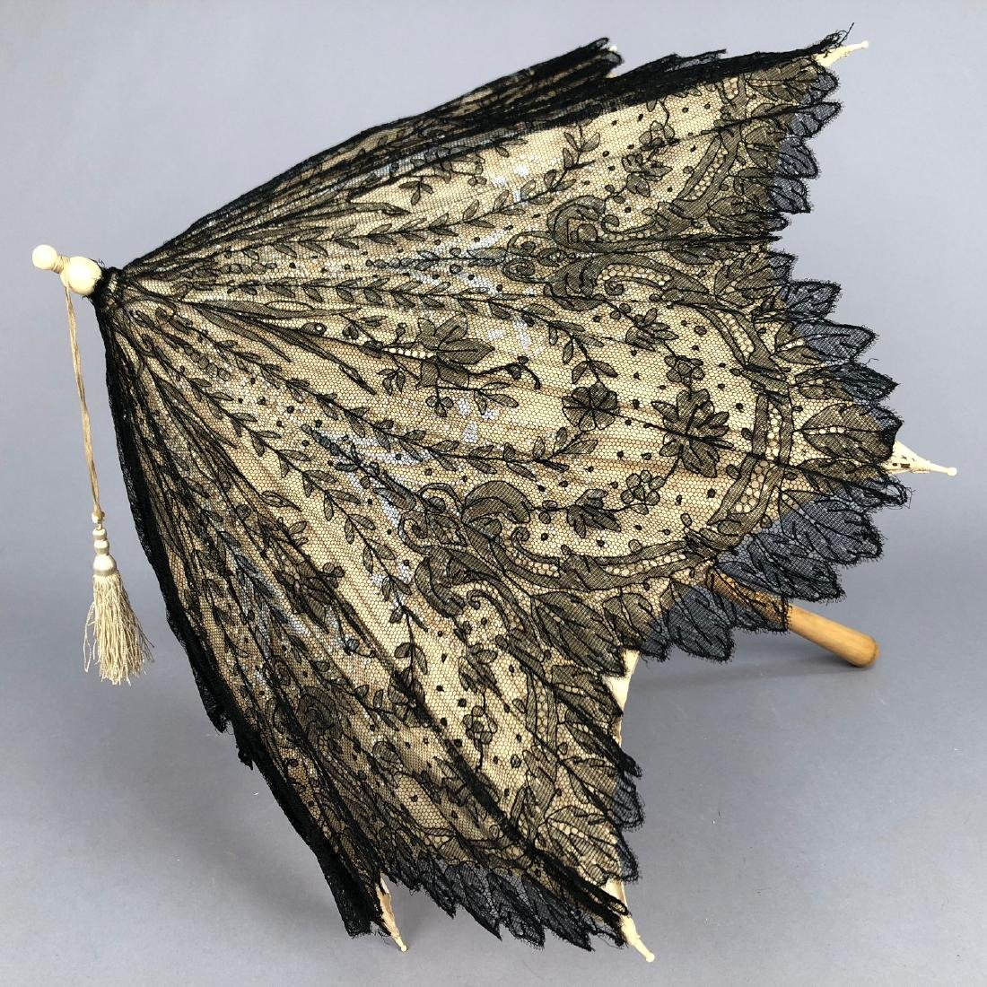 CHANTILLY LACE PARASOL, QUEEN VICTORIA, 1865 - 1875