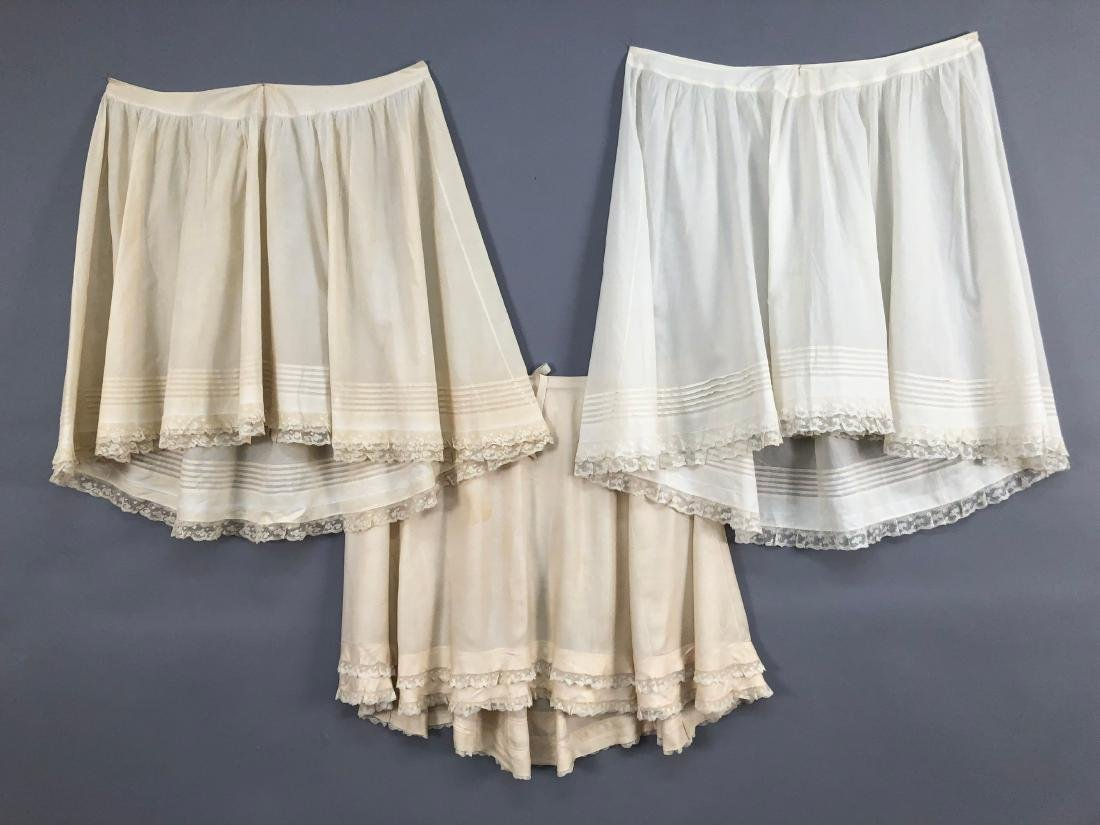 THREE PETTICOATS, QUEEN VICTORIA, 1880s - 1890s