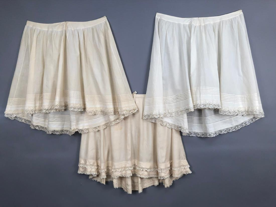 THREE PETTICOATS, QUEEN VICTORIA, 1880s - 1890s - 6