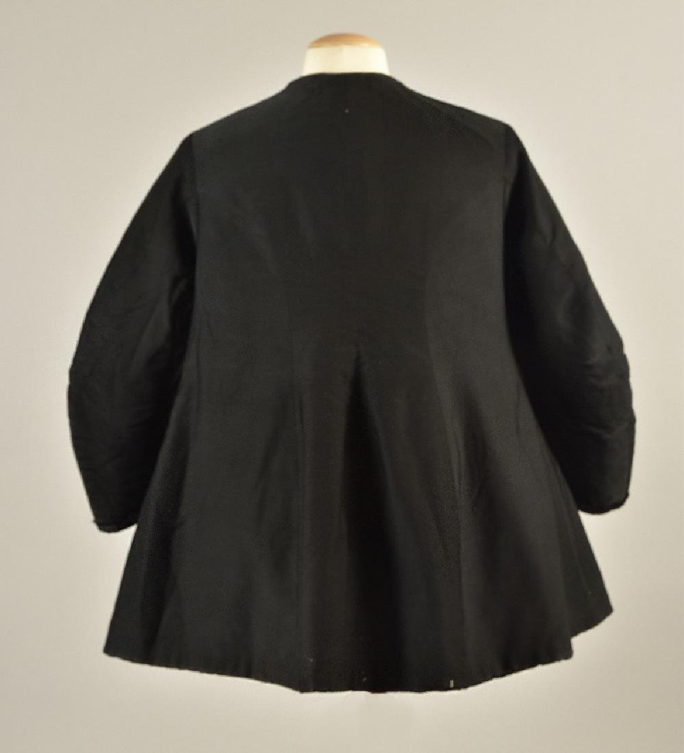 BLACK WOOL COAT, QUEEN VICTORIA, 1880s - 2