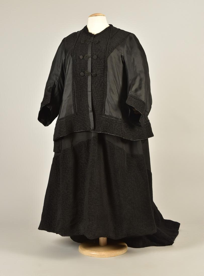 SILK 3-PIECE DAY ENSEMBLE, QUEEN VICTORIA, 1900