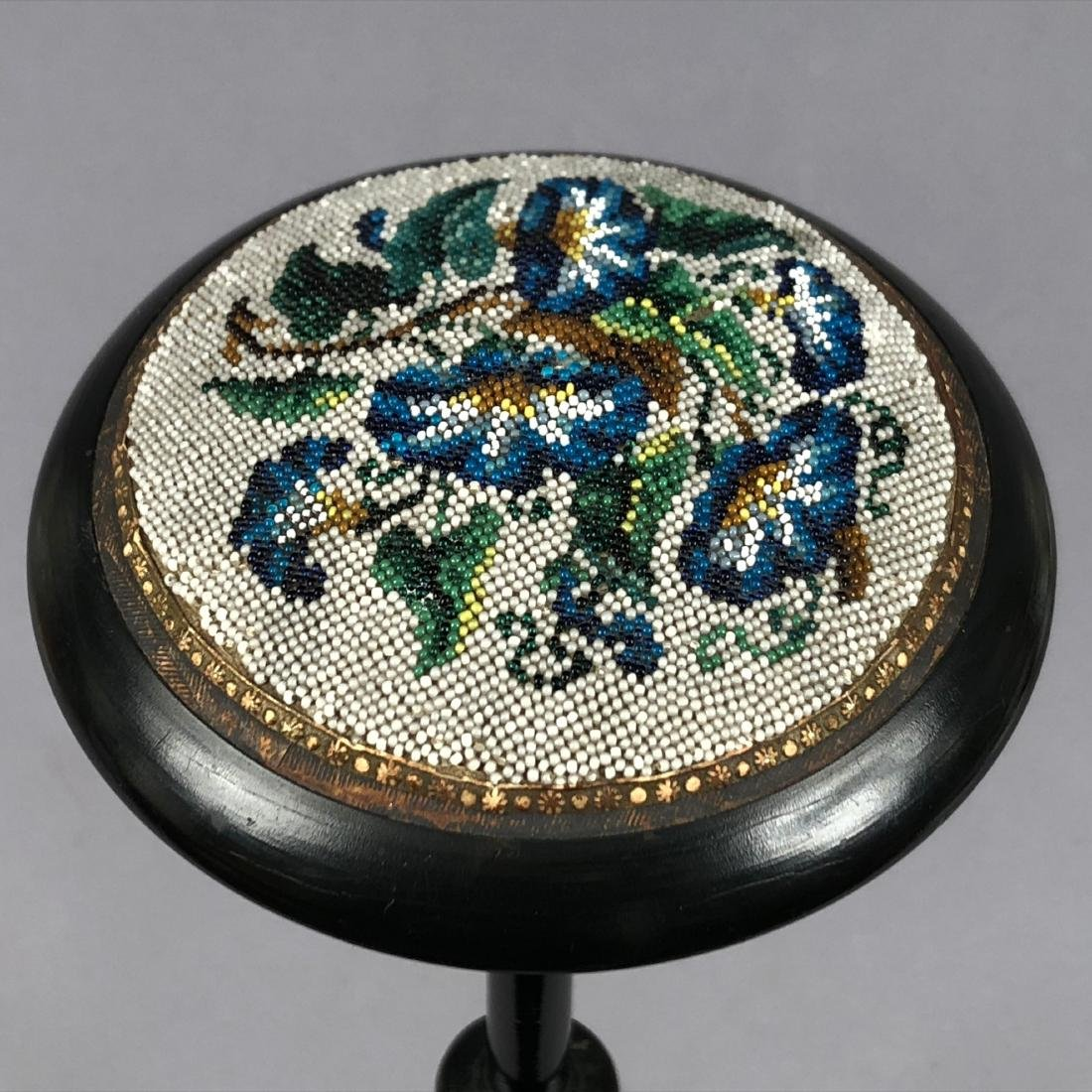 WOODEN HAT STAND with BEADWORK, QUEENS AUCTION, 1908 - 3