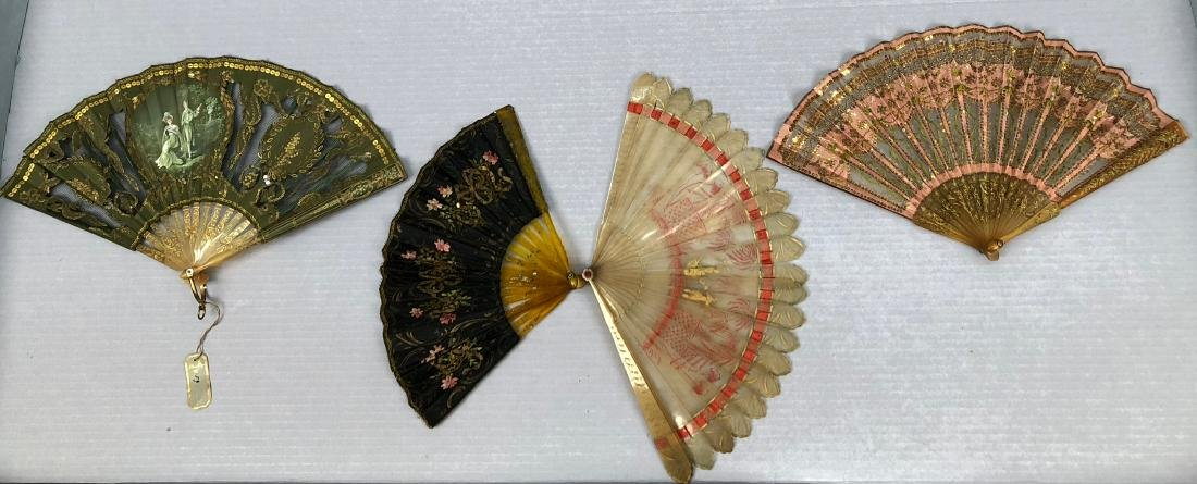 FOUR SMALL HORN FANS, c. 1815 - 1910