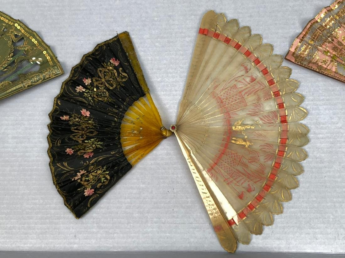 FOUR SMALL HORN FANS, c. 1815 - 1910 - 2