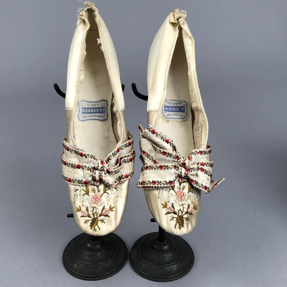 TWO PAIR LADIES' SHOES with LOUIS HEEL, 1870s - 4