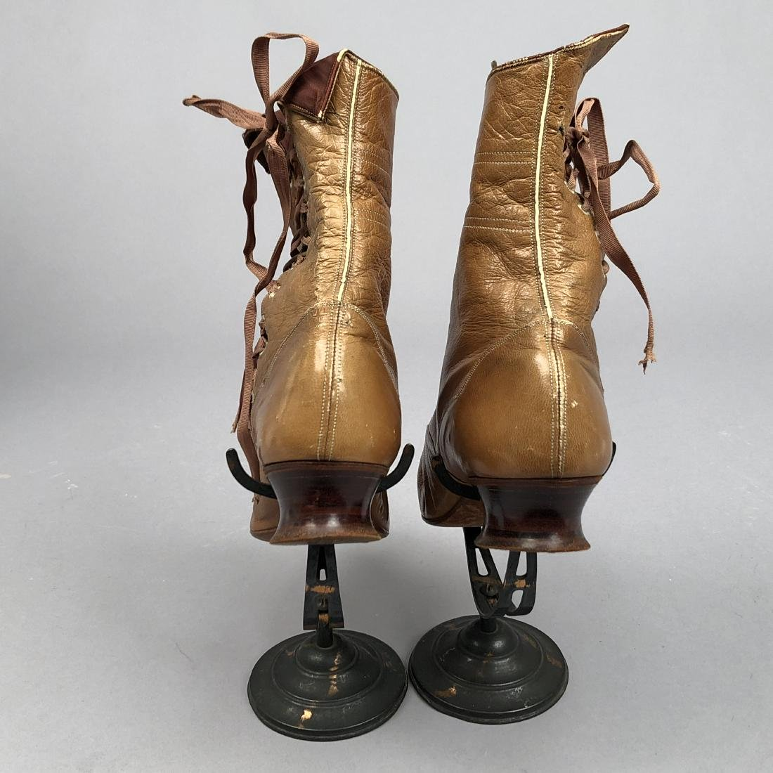 LADY'S SIDE-LACING BOOTS with TOPSTITCHING, 1890s - 3