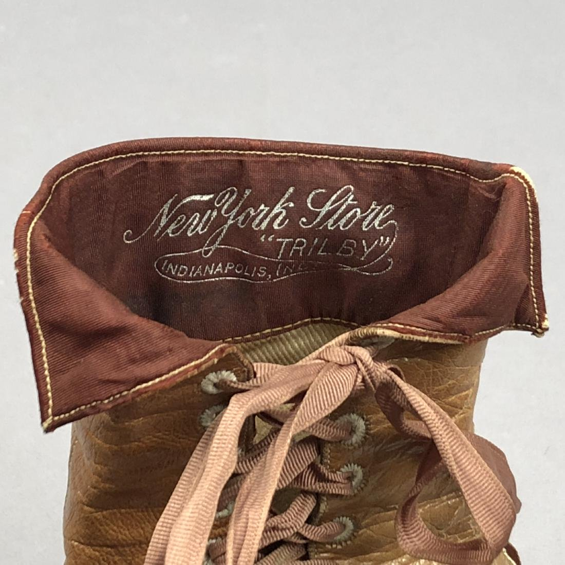 LADY'S SIDE-LACING BOOTS with TOPSTITCHING, 1890s - 5