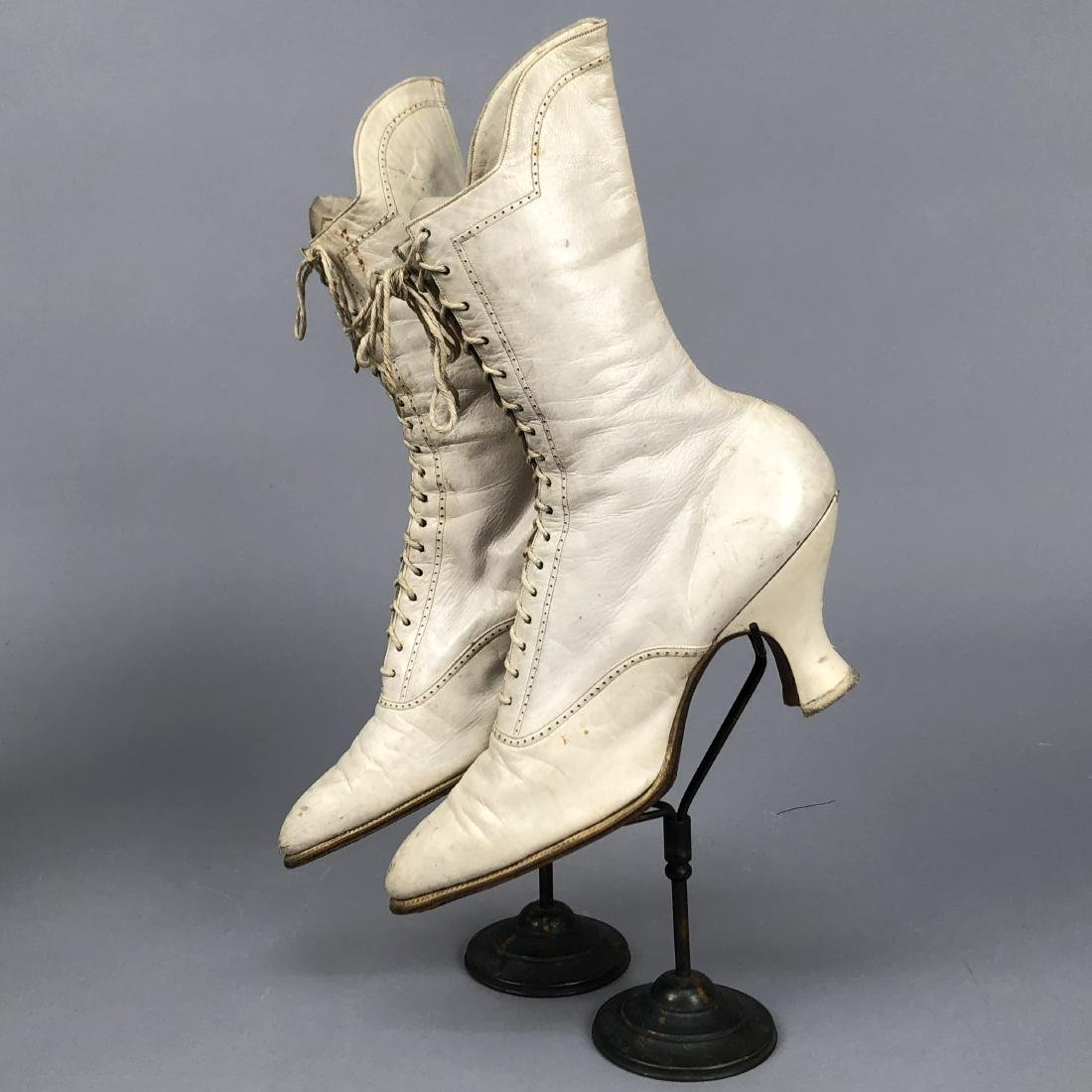 FOUR PAIR LADIES' LACING BOOTS, 1890s - 2