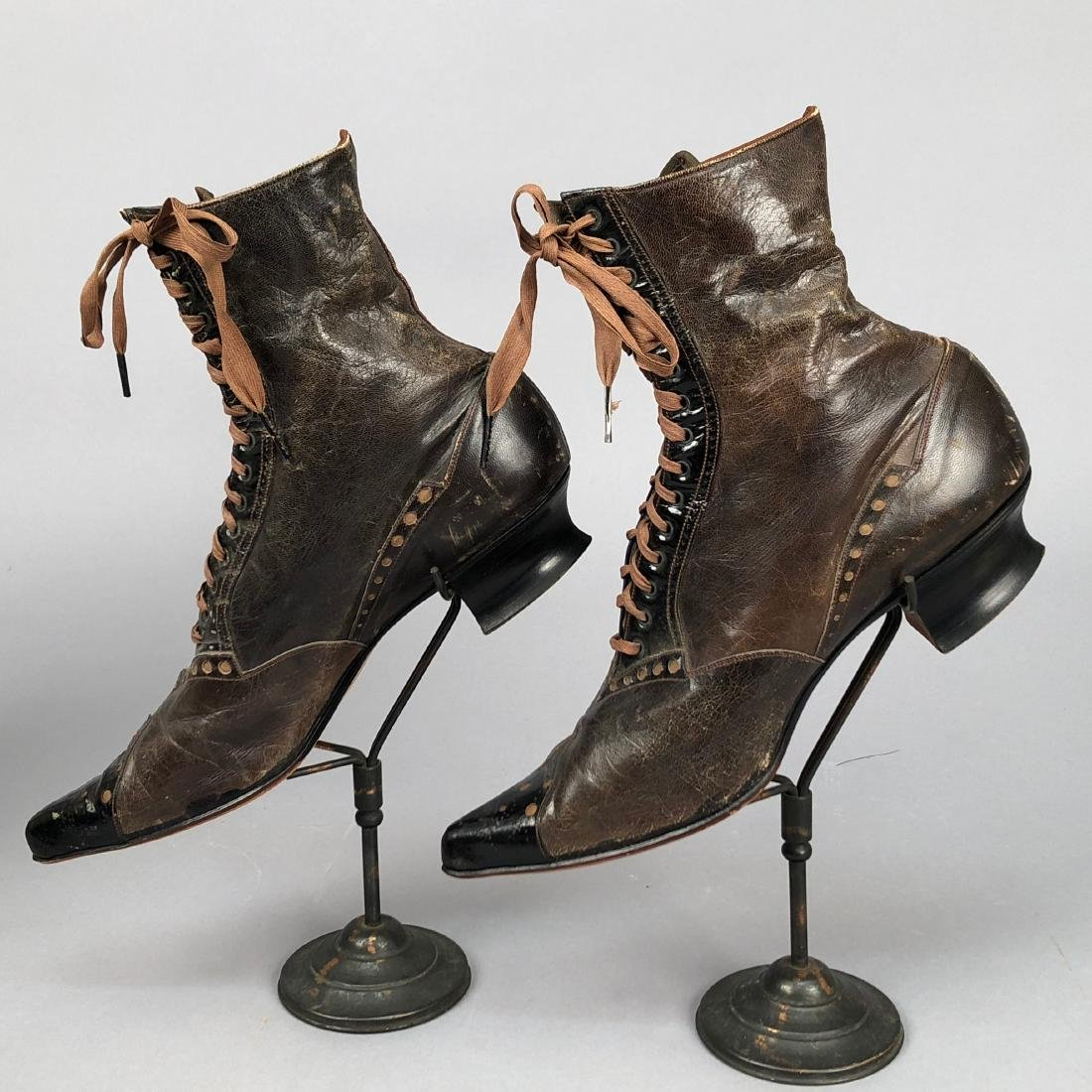 FOUR PAIR LADIES' LACING BOOTS, 1890s - 3