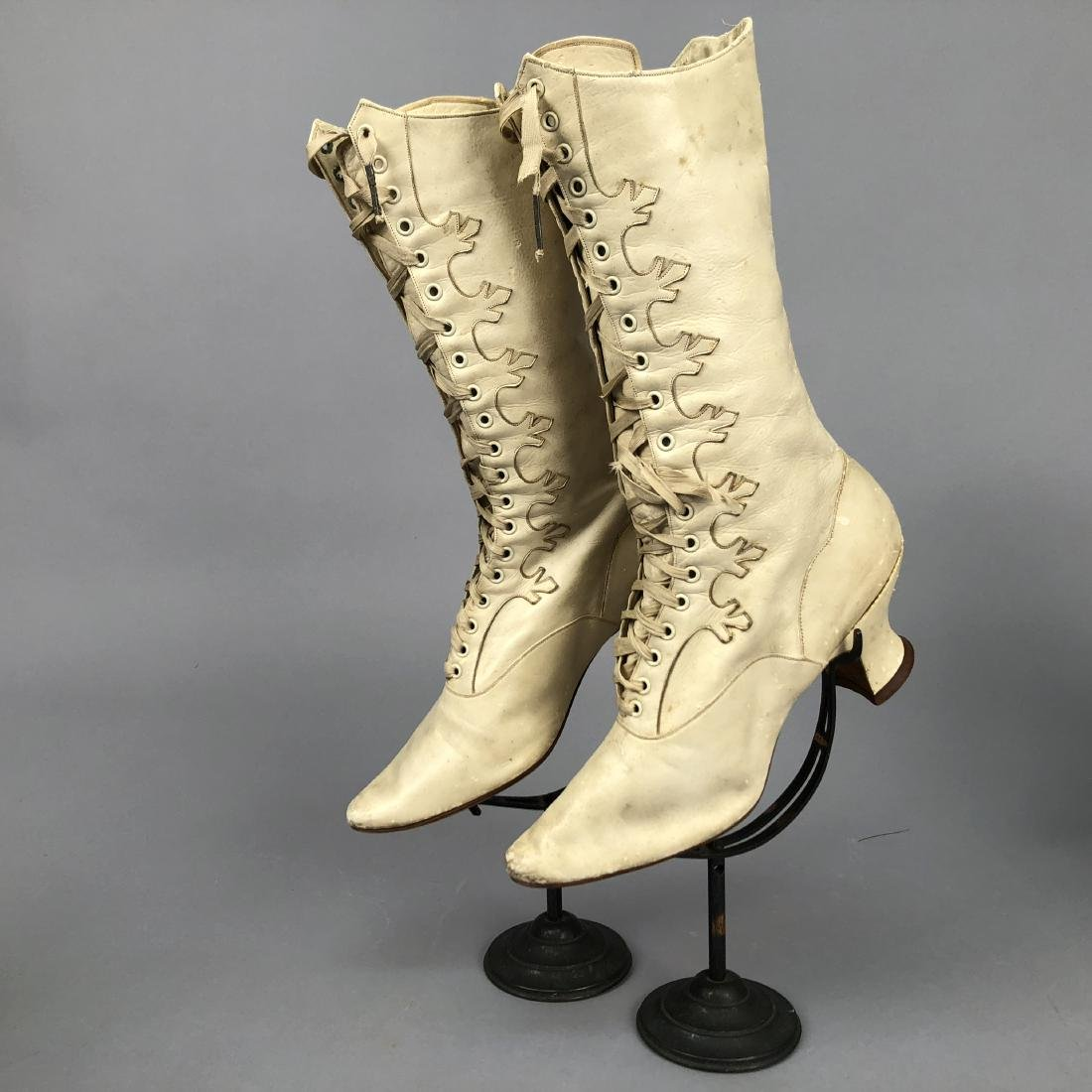 FOUR PAIR LADIES' LACING BOOTS, 1890s - 4
