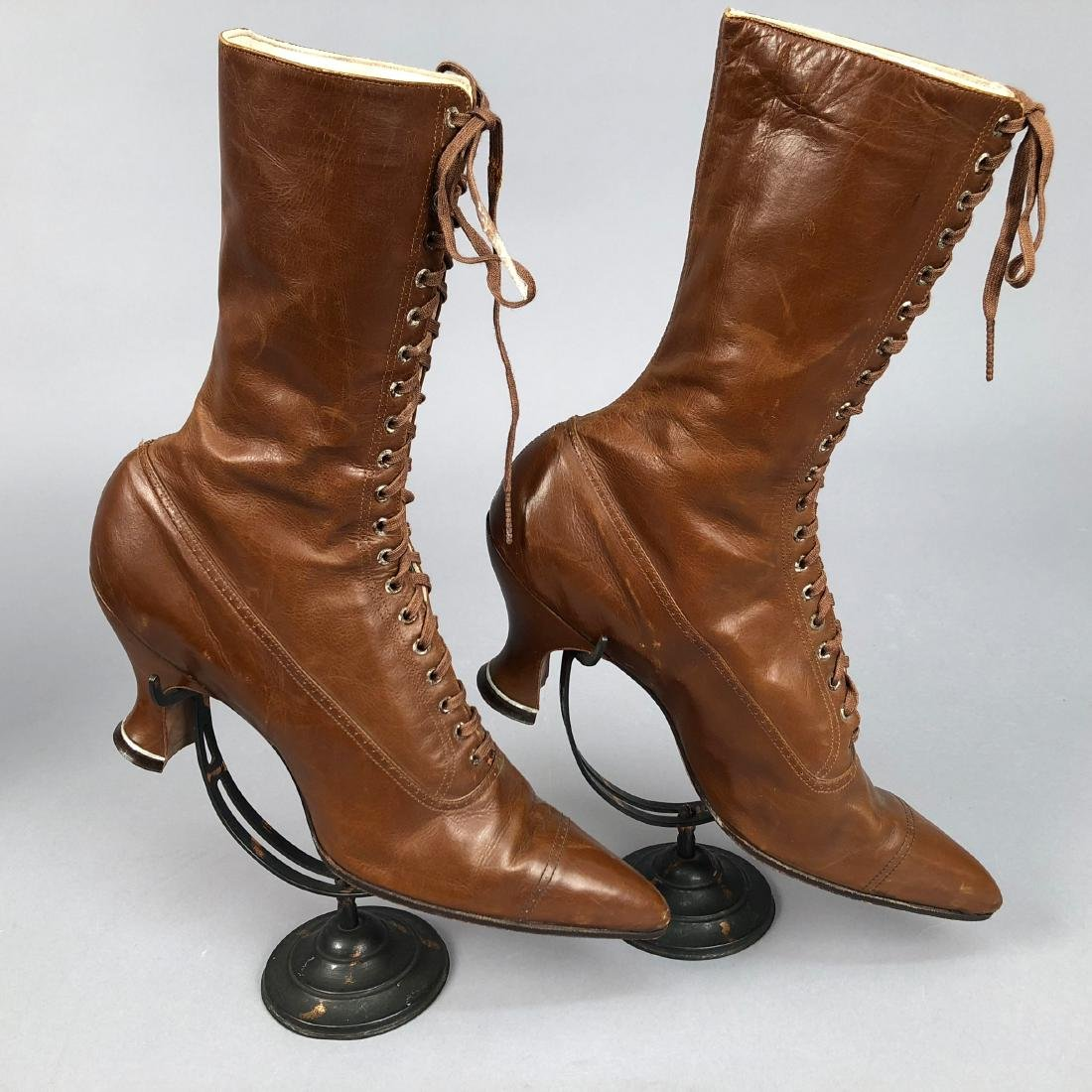 THREE PAIR HIGH-LACING BOOTS, 1890s - 2