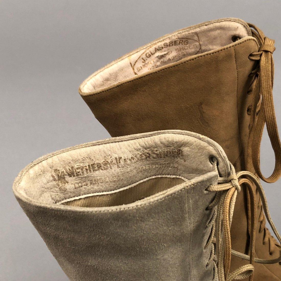 THREE PAIR LADIES' SUEDE BOOTS, 1890s - 1900s - 5