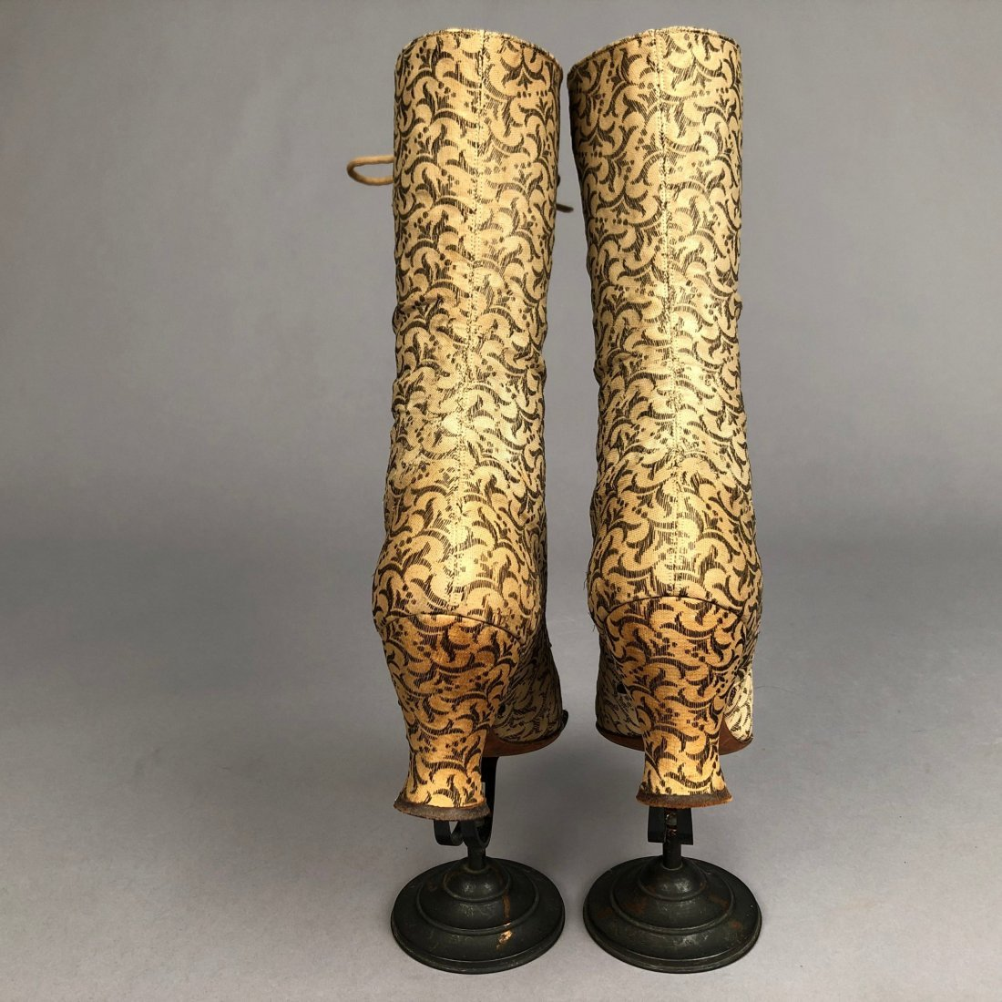 METALLIC BROCADE LACE-UP BOOTS, c. 1895 - 3