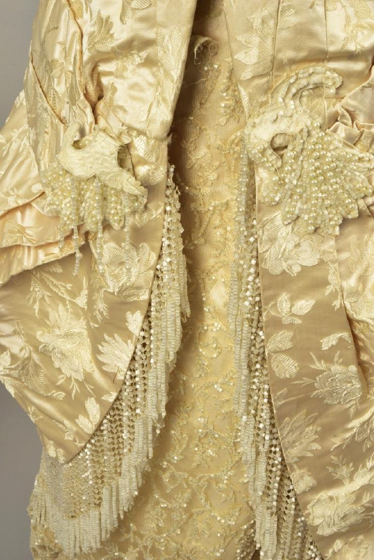 BEADED BROCADE WEDDING GOWN, c. 1879 - 5