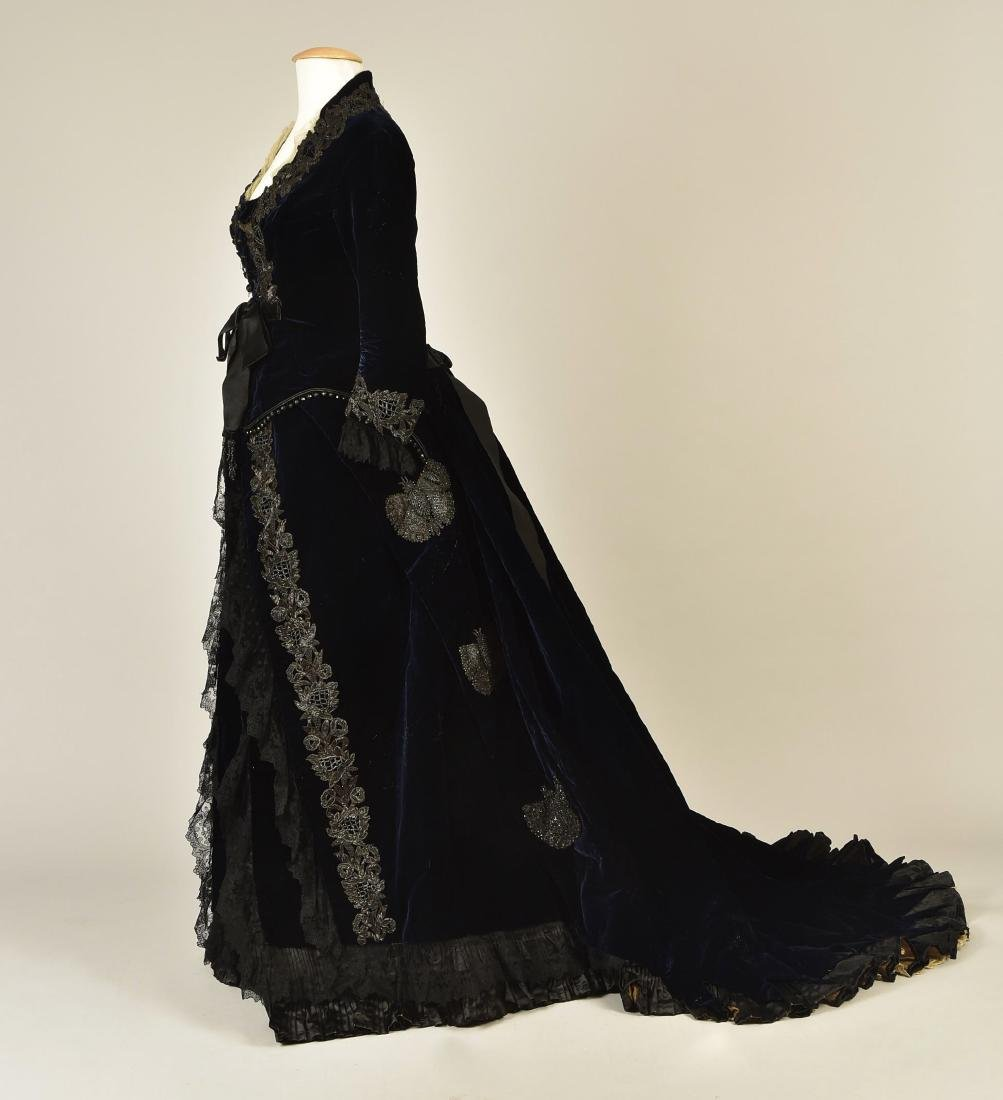 JET-BEADED VELVET ENSEMBLE, 1880s - 2