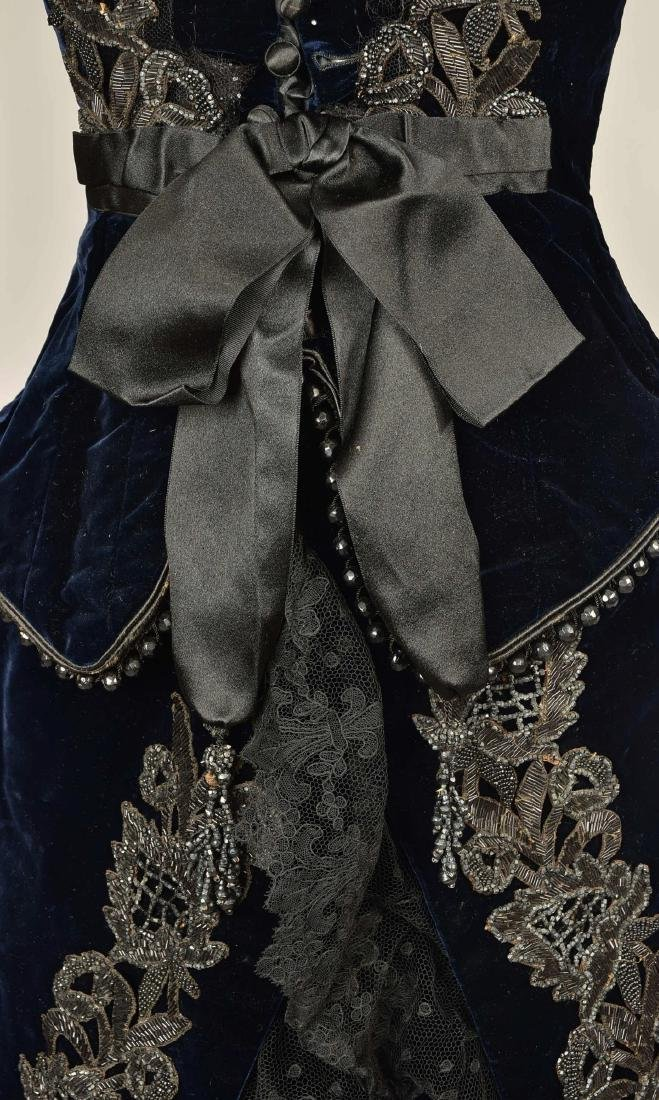 JET-BEADED VELVET ENSEMBLE, 1880s - 5