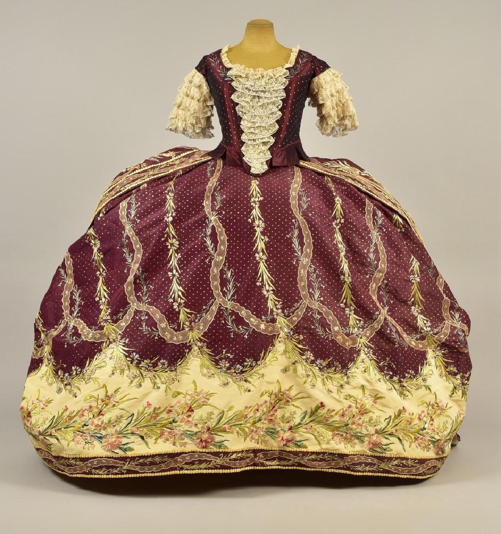 18th C-STYLE MARIE ANTOINETTE FANCY-DRESS COSTUME c.