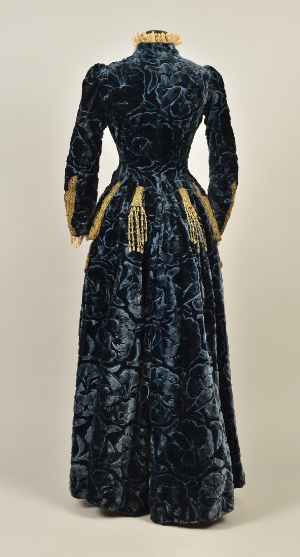 LONDON LABEL FIGURED VELVET COAT, 1880s - 2