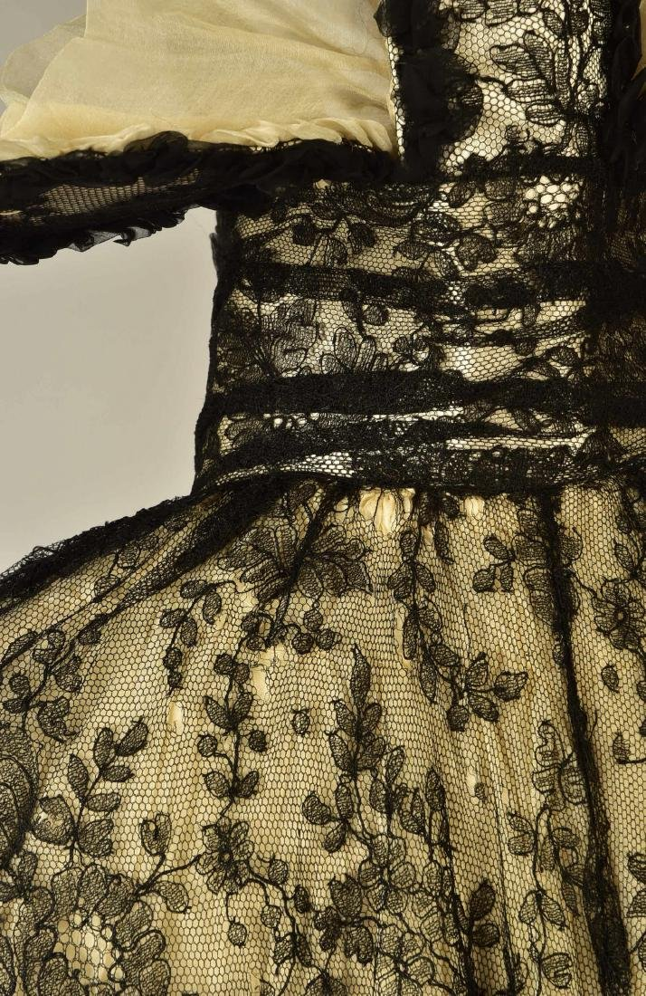BLACK LACE CAPE with FANCY STAND COLLAR, 1890 - 3