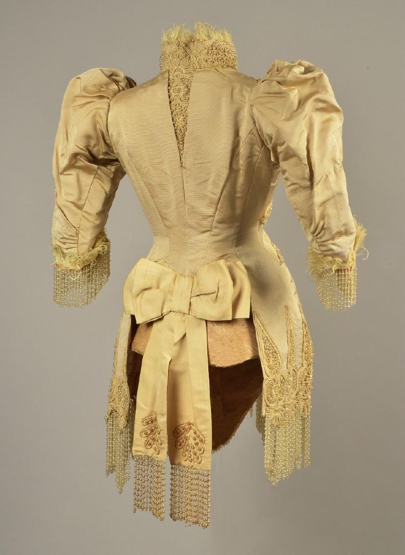 PARIS SILK JACKET with PEARLS, FEATHERS and CORDING, c. - 2
