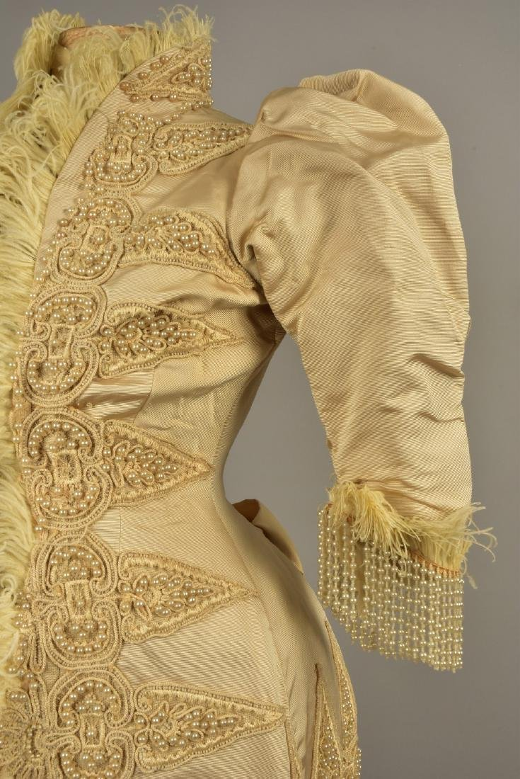 PARIS SILK JACKET with PEARLS, FEATHERS and CORDING, c. - 3