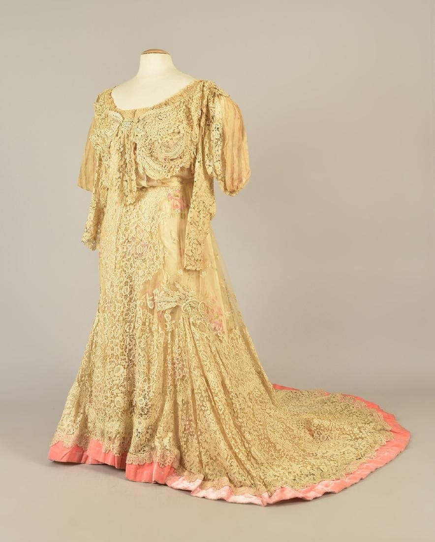 PARIS SILK and LACE GOWN, MARY ELIZABETH DEPREE, 1890s