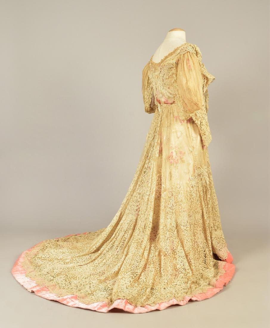 PARIS SILK and LACE GOWN, MARY ELIZABETH DEPREE, 1890s - 2
