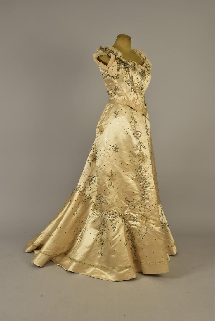 GUSTAVE BEER SEQUINED BALLGOWN, c. 1898