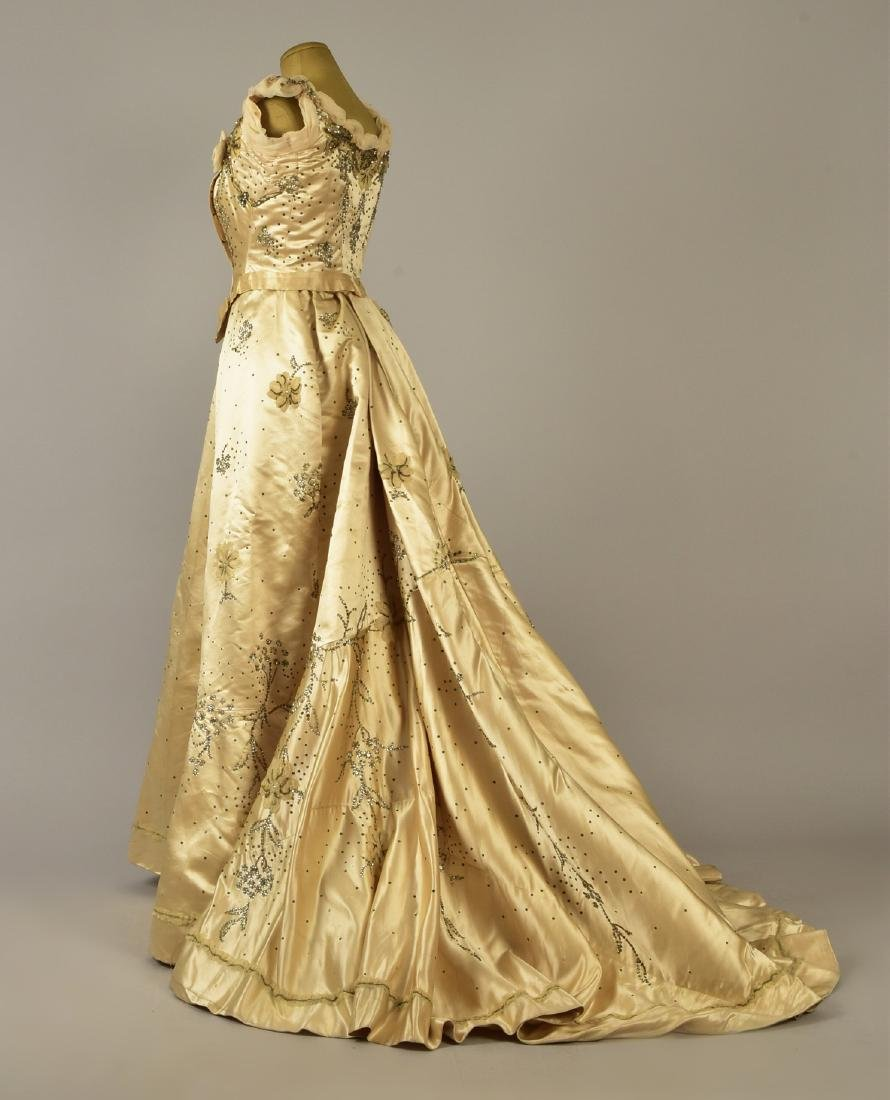 GUSTAVE BEER SEQUINED BALLGOWN, c. 1898 - 2