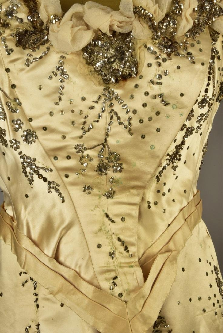 GUSTAVE BEER SEQUINED BALLGOWN, c. 1898 - 3