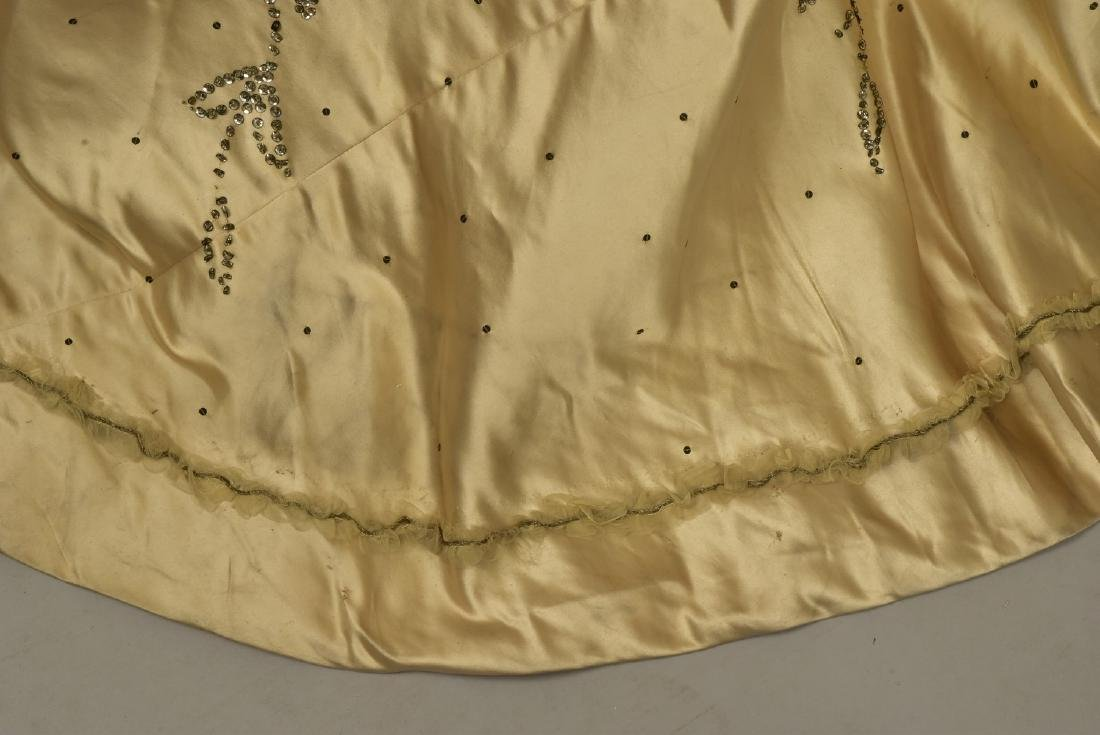 GUSTAVE BEER SEQUINED BALLGOWN, c. 1898 - 5