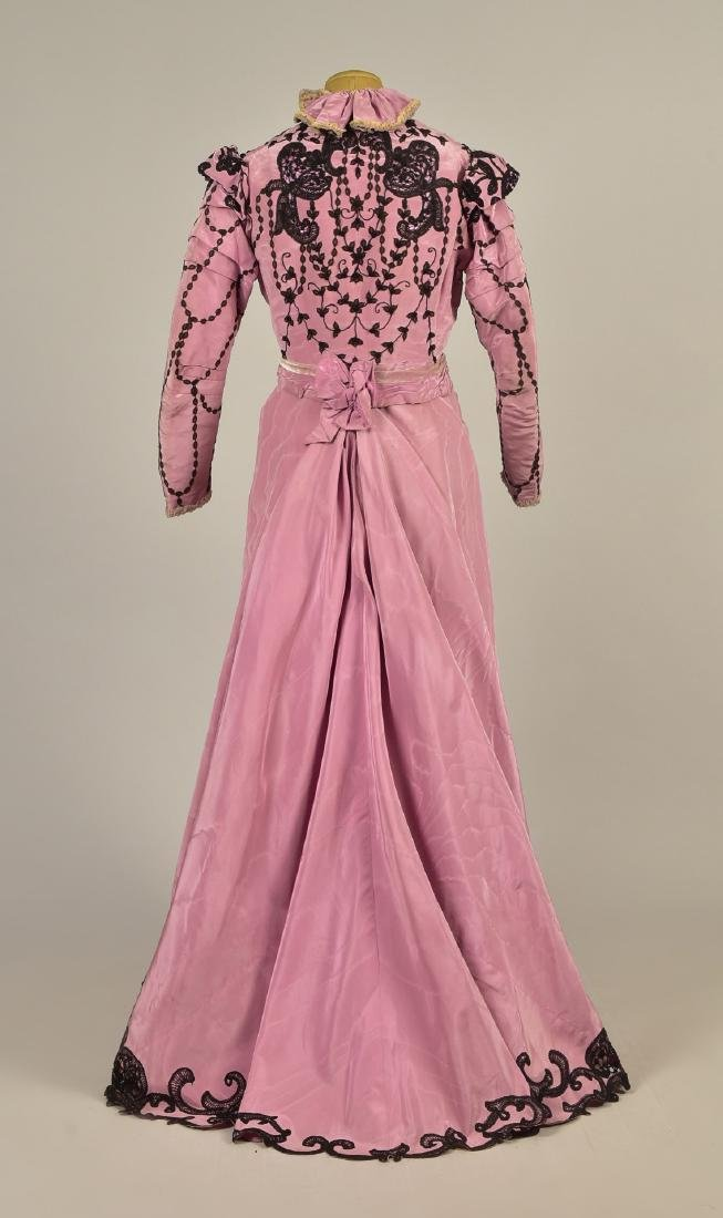 LACE TRIMMED SILK DRESS, c. 1899 - 2