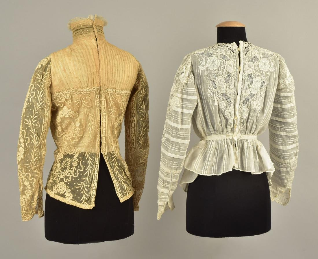 TWO EMBROIDERED BODICES, 1900s - 2