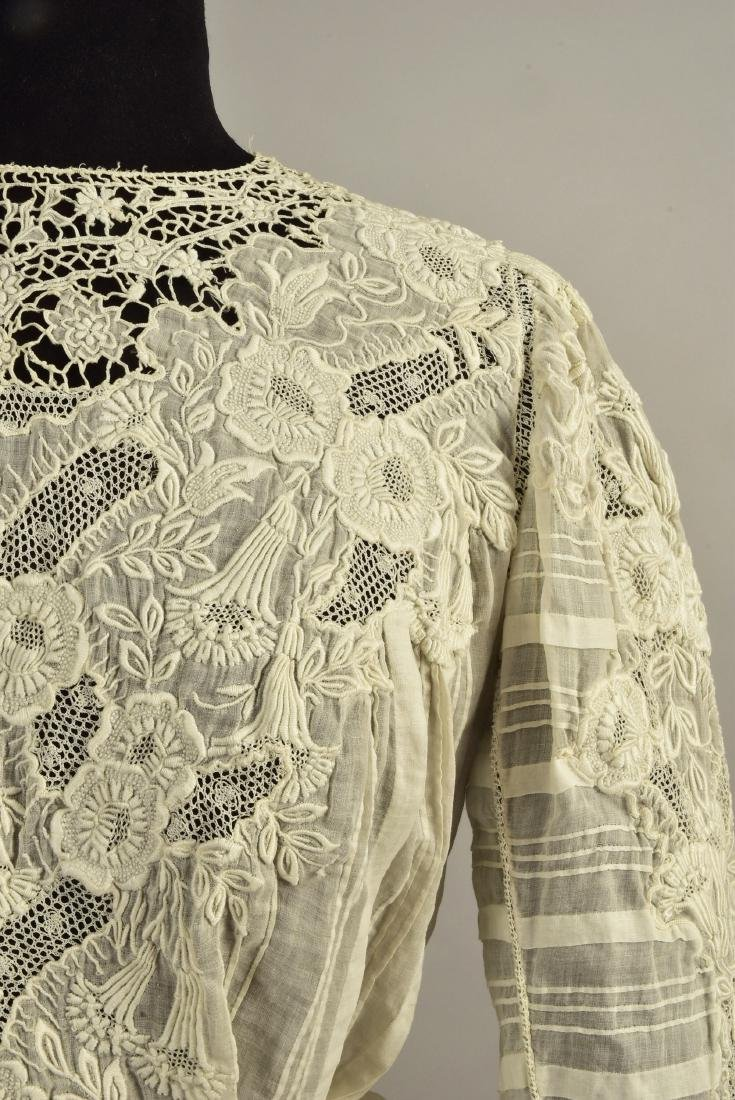 TWO EMBROIDERED BODICES, 1900s - 3