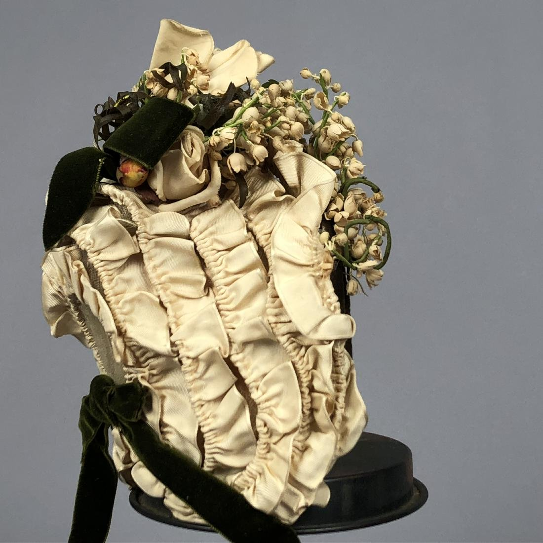 TWO WIRED BONNETS worn by JULIA BUTTERFIELD, 1890 - 2
