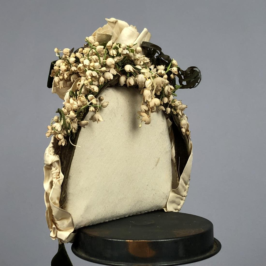 TWO WIRED BONNETS worn by JULIA BUTTERFIELD, 1890 - 3