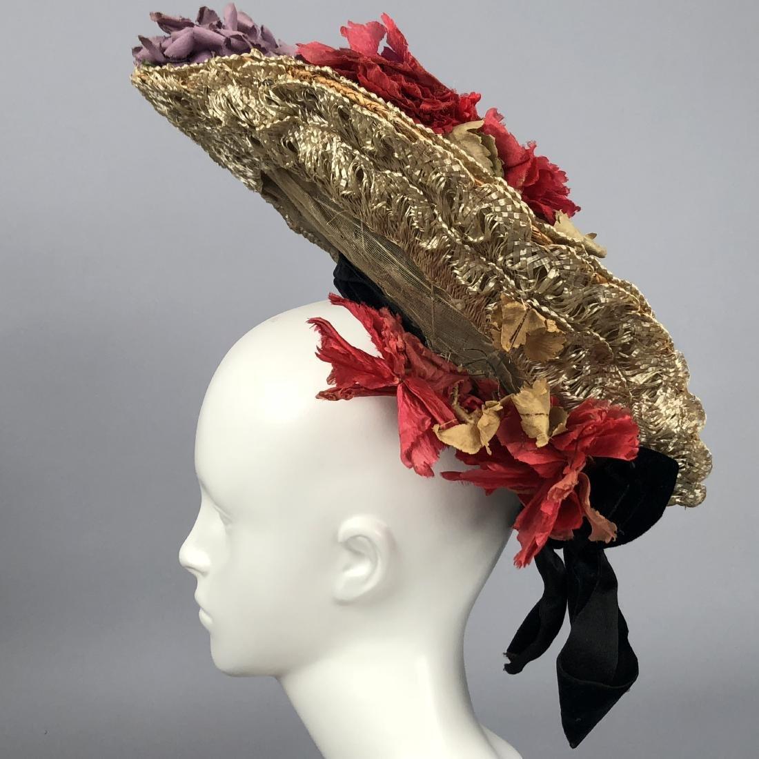 THREE WIRED HIGH-BRIM HATS, 1890s - 4