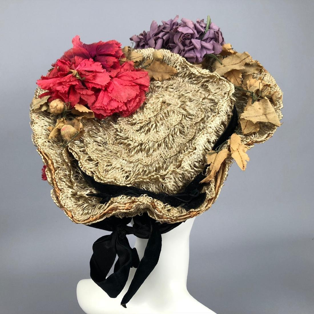 THREE WIRED HIGH-BRIM HATS, 1890s - 5