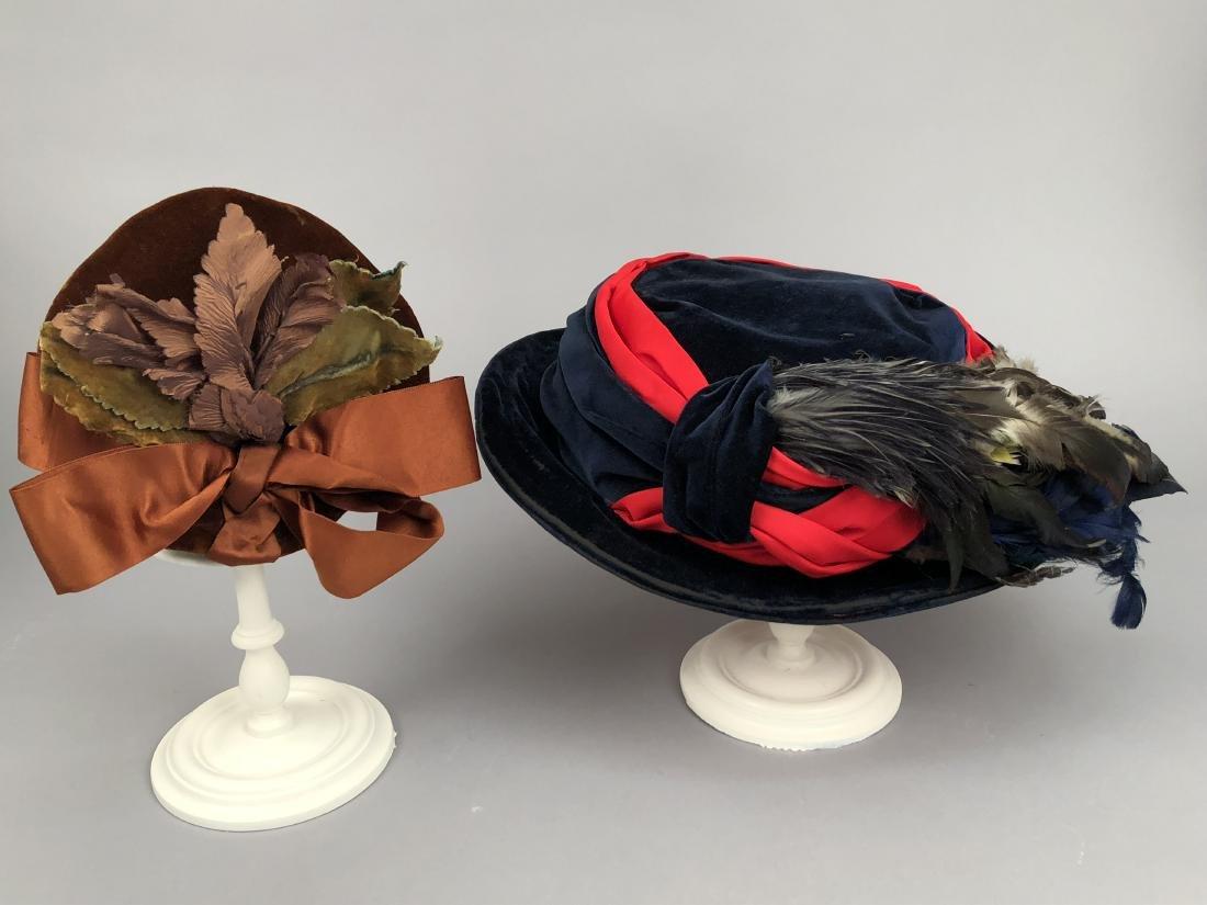 FOUR LADIES' VELVET HATS, 1890 - 1905 - 3
