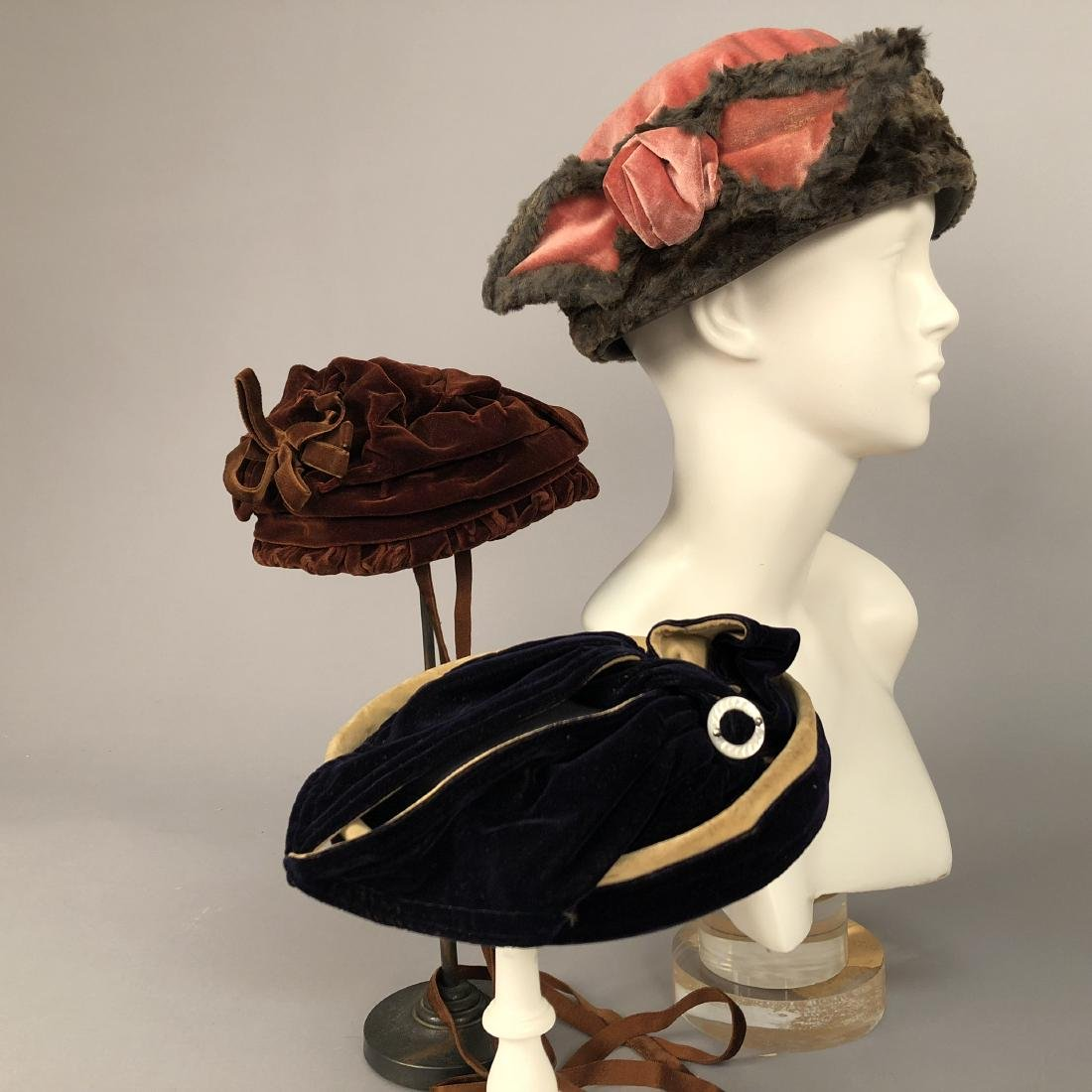 SEVEN ASSORTED LADIES' HATS, 1885 - 1920 - 2