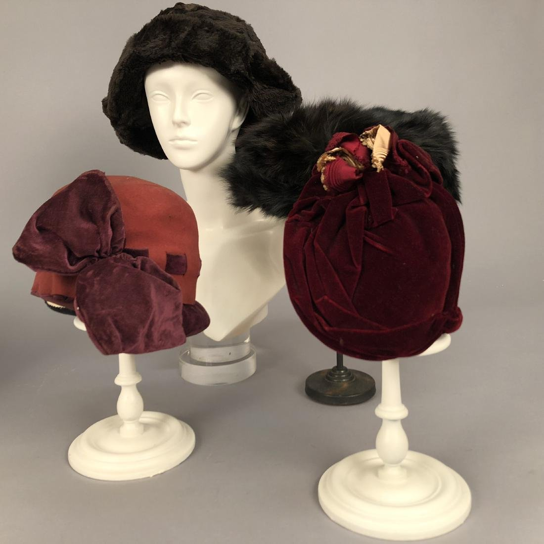 SEVEN ASSORTED LADIES' HATS, 1885 - 1920 - 3