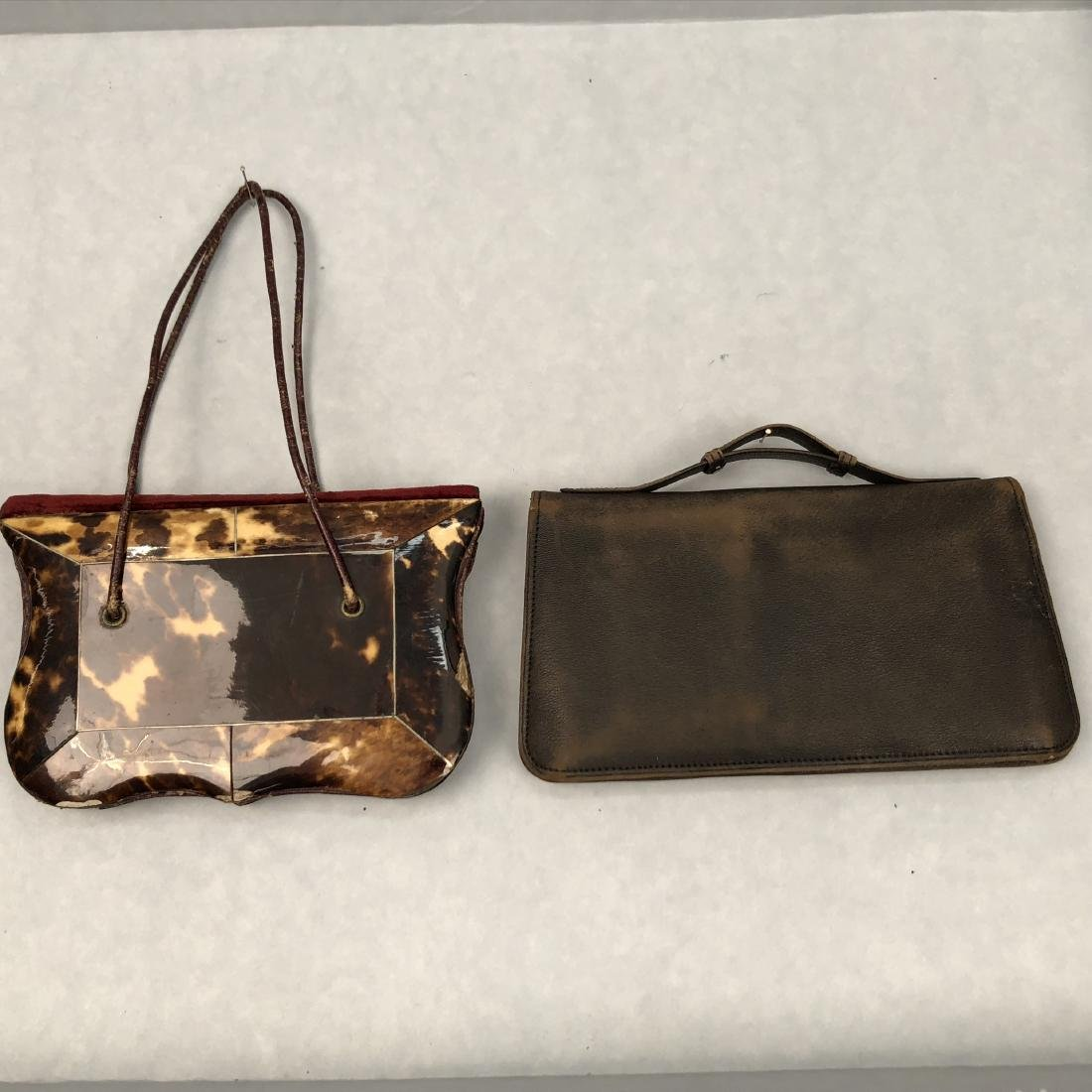 SHELL and IVORY ENVELOPE PURSES, c. 1830 and 1920s - 4