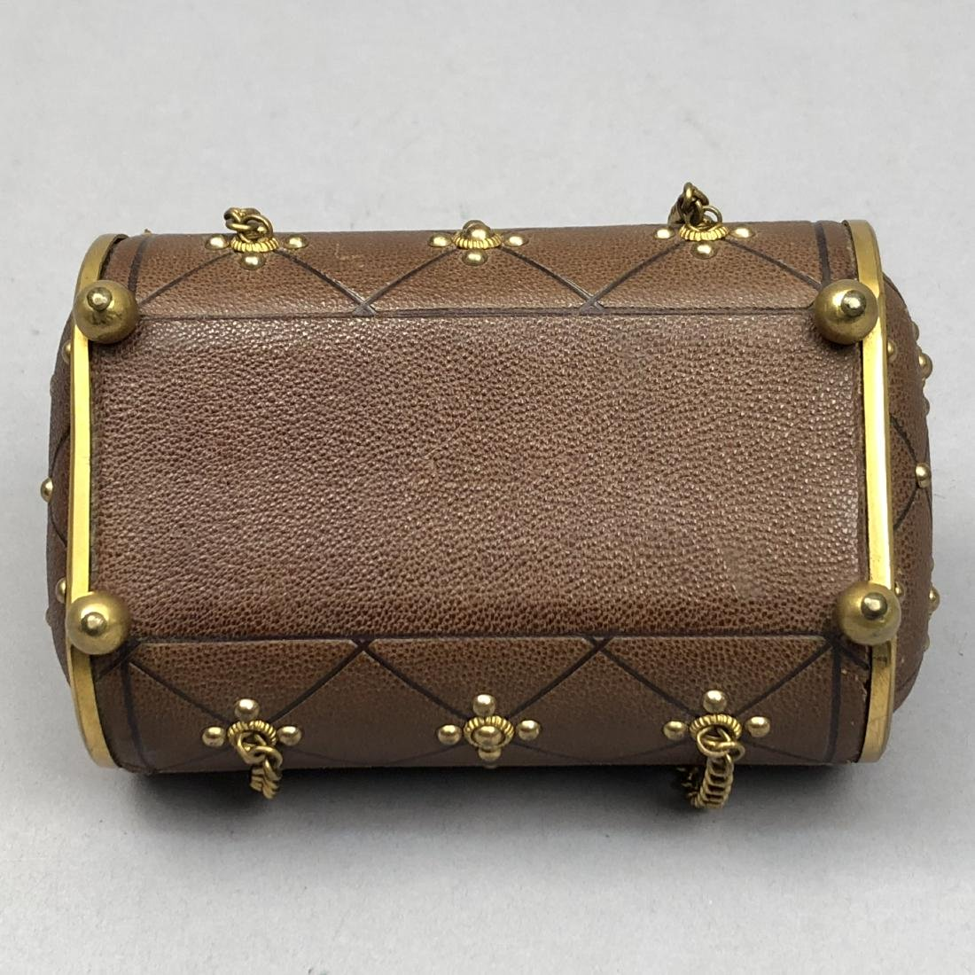 HINGED-LID LEATHER SEWING CASE, 1850 - 1870 - 4