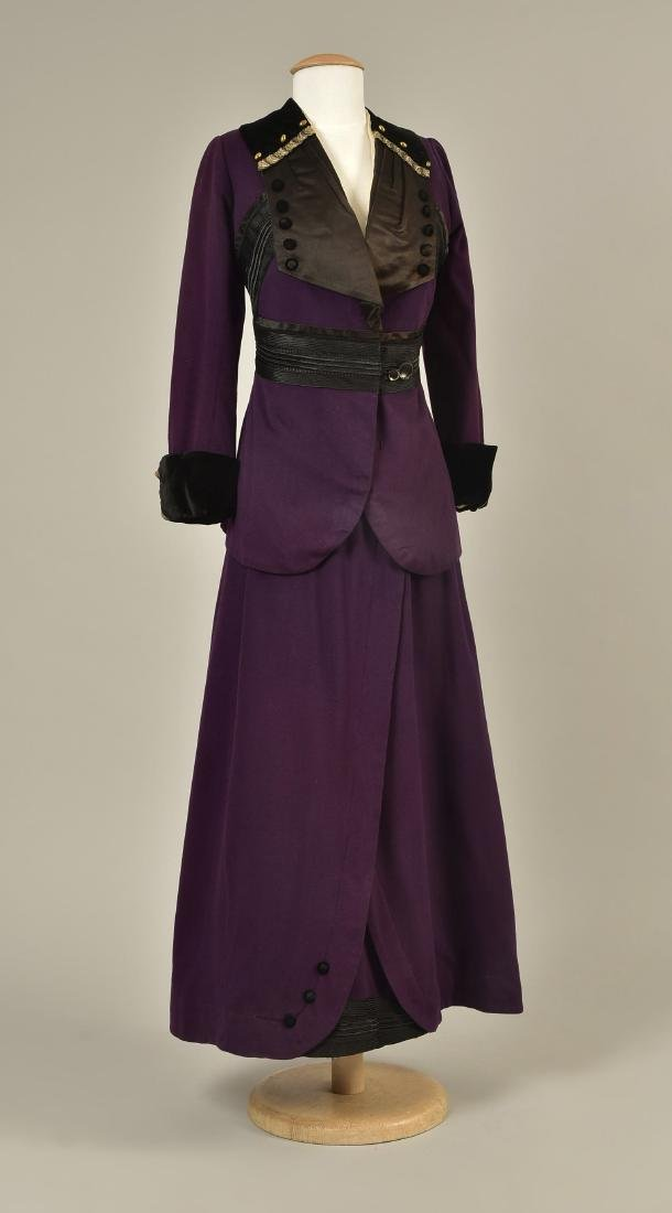 WOOL SUIT with BRAIDED TRIM c. 1912