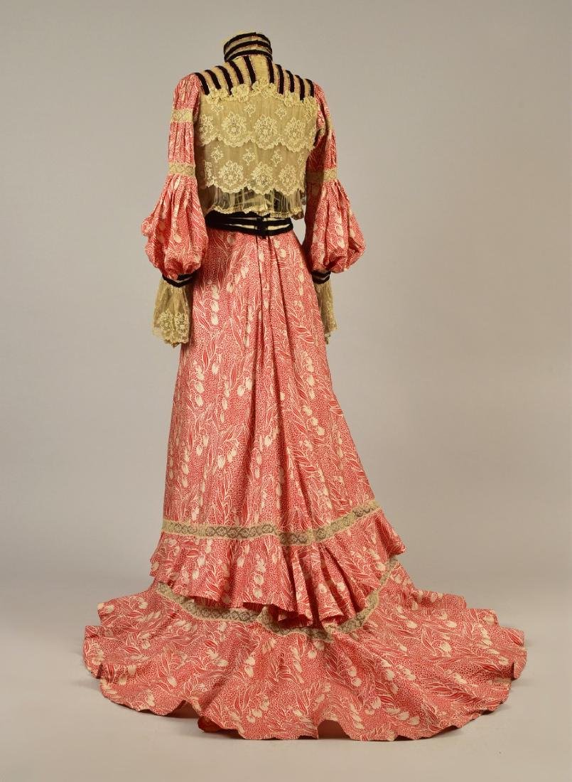 SILK FOULARD DRESS with LACE and VELVET, 1902 - 1903 - 2