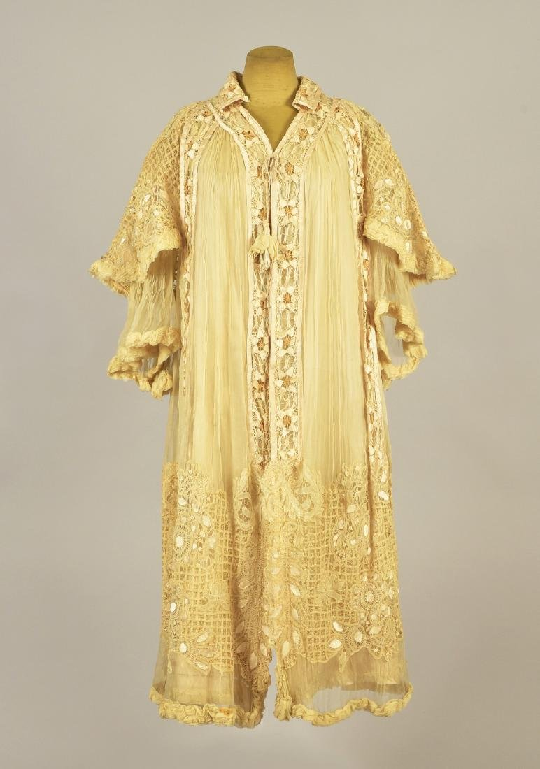 LACE and CHIFFON EVENING WRAP, 1900