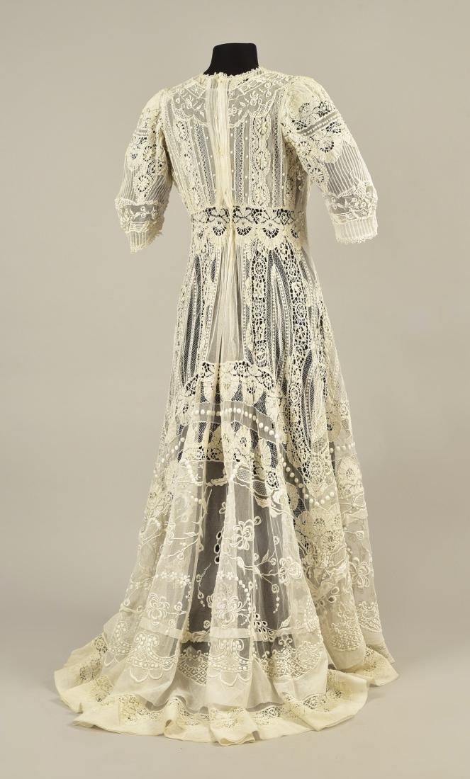 TRAINED CUTWORK and EMBROIDERED NET and LACE DRESS,