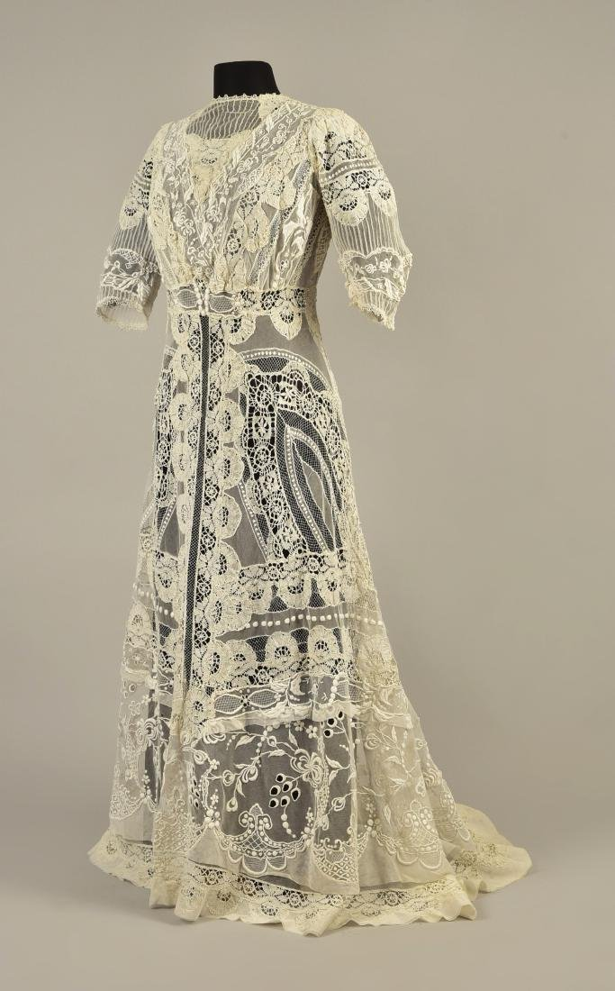 TRAINED CUTWORK and EMBROIDERED NET and LACE DRESS, - 2