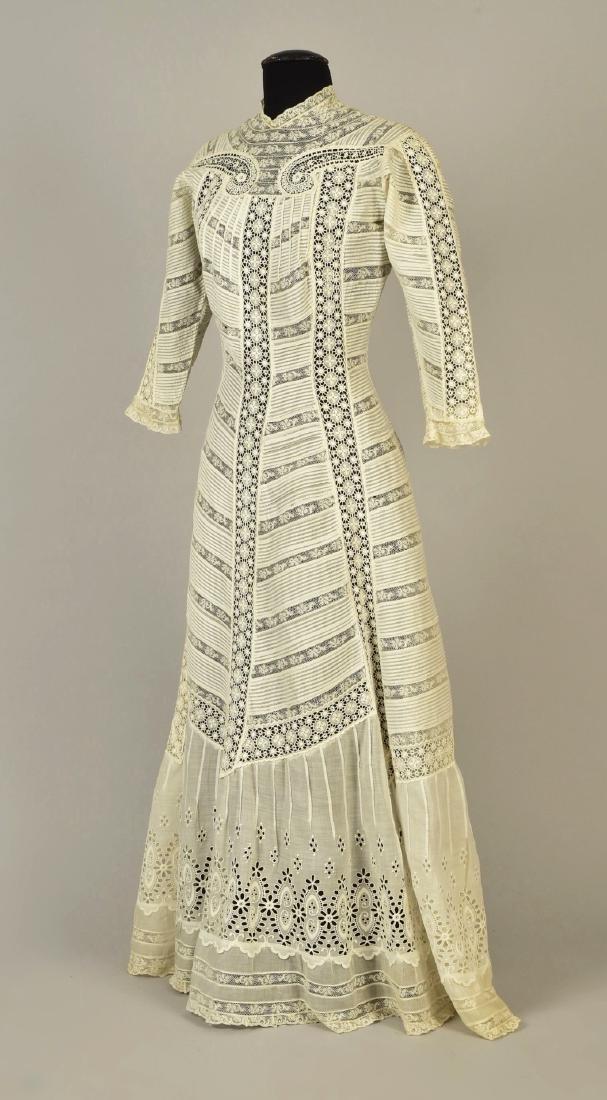 PRINCESSLINE VOILE and LACE DRESS, 1908